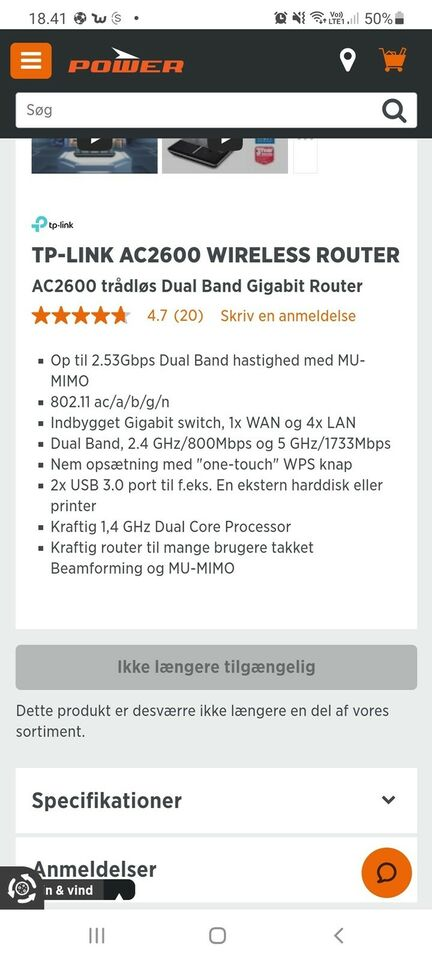 Router, wireless, TP-Link