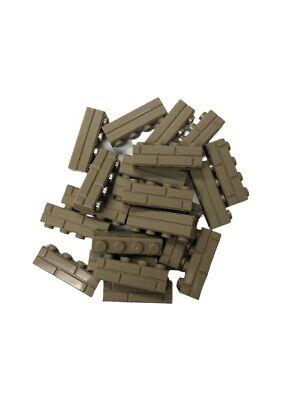 Lego 20 New Tan Bricks Modified 1 x 4 with Masonry Profile Brick Profile Pieces