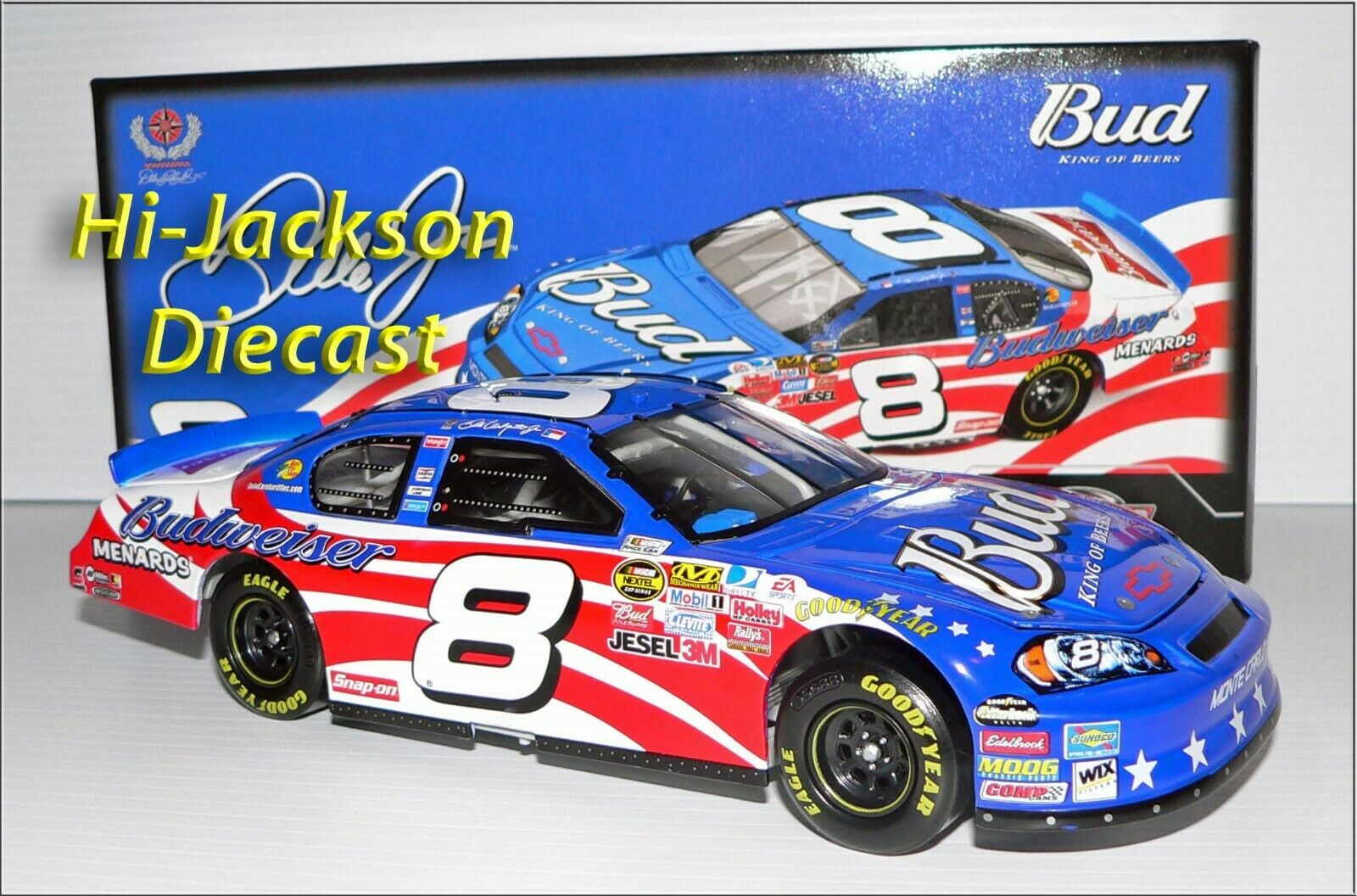DALE EARNHARDT JR 2007 STARS AND STRIPES NASCAR DIECAST DIECAST DIECAST RACE CAR 1 24 7b5590