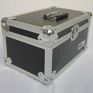 1-X-NEO-Aluminum-Black-Vinyl-7-034-Storage-for-300-Records-Singles-DJ-Carry-Case