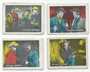 Vintage-1950-039-s-The-Lone-Ranger-1950-Ed-U-Cards-Lot-of-4-034-Outlaw-039-s-Revenge-034