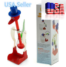 Red Retro Happy Dippy Drinking Bird   By USA SELLER -HNDtek