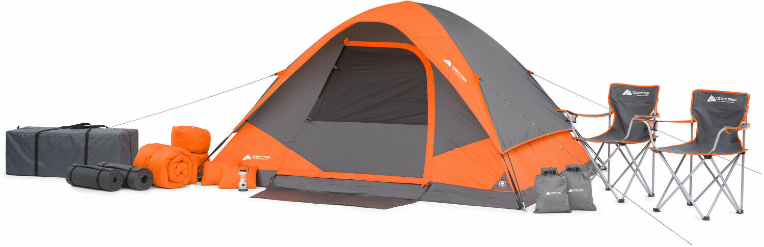 campeggio Tent Combo 22 Piece 4 Person Sleeping Set Vacation all'aperto Hire Dome
