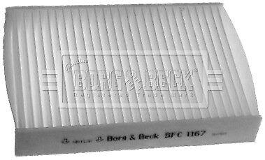 Borg /& Beck Interior Air Filter Cabin Pollen BFC1167 GENUINE 5 YEAR WARRANTY