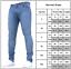 Men-Straight-Leg-Pants-Slim-Fit-Washed-Jeans-Denim-Stretchy-Plain-Biker-Trousers thumbnail 3