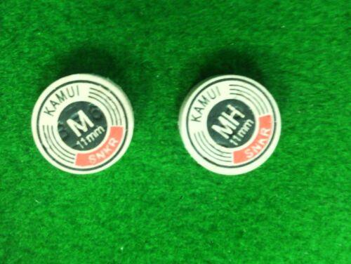 Mediumhart Snooker Tip 2 Stück Snooker Leder Kamui 11 mm Medium