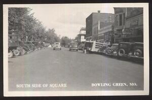 Rp Postcard Bowling Green Momissouri Late 1930s Coca Cola Truck On