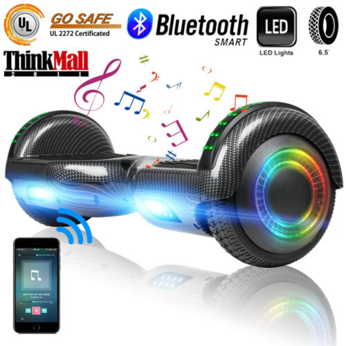 """UL2272 CE 6.5/"""" Gray Hoverboard Self Balancing Smart LED Electric Scooter No Bag"""