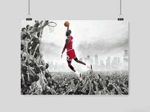 MICHAEL JORDAN BASKETBALL POSTER NBA LEGEND ICON ABSTRACT ART A3 A4 SIZE USA