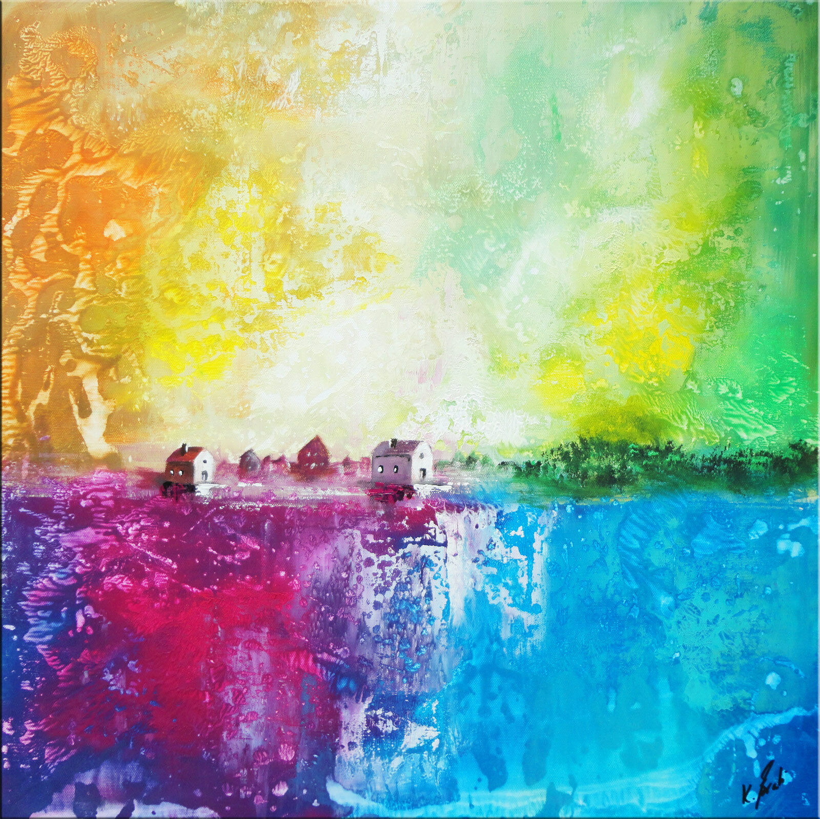 Skyline Abstrait Image Toile Abstrait Skyline Art images la fresque art Pression Neuf d0038 026b2d