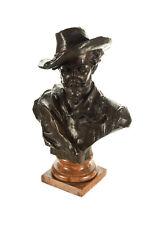 "Rubens 19"" Bronze Bust sculpture by H. Muller-Signed"