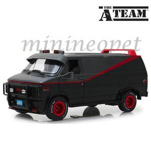 13-Greenlight-13521-The-A-Team-1983-GMC-VANDURA-1-18-Diecast-Modele-Van-Noir-Gris