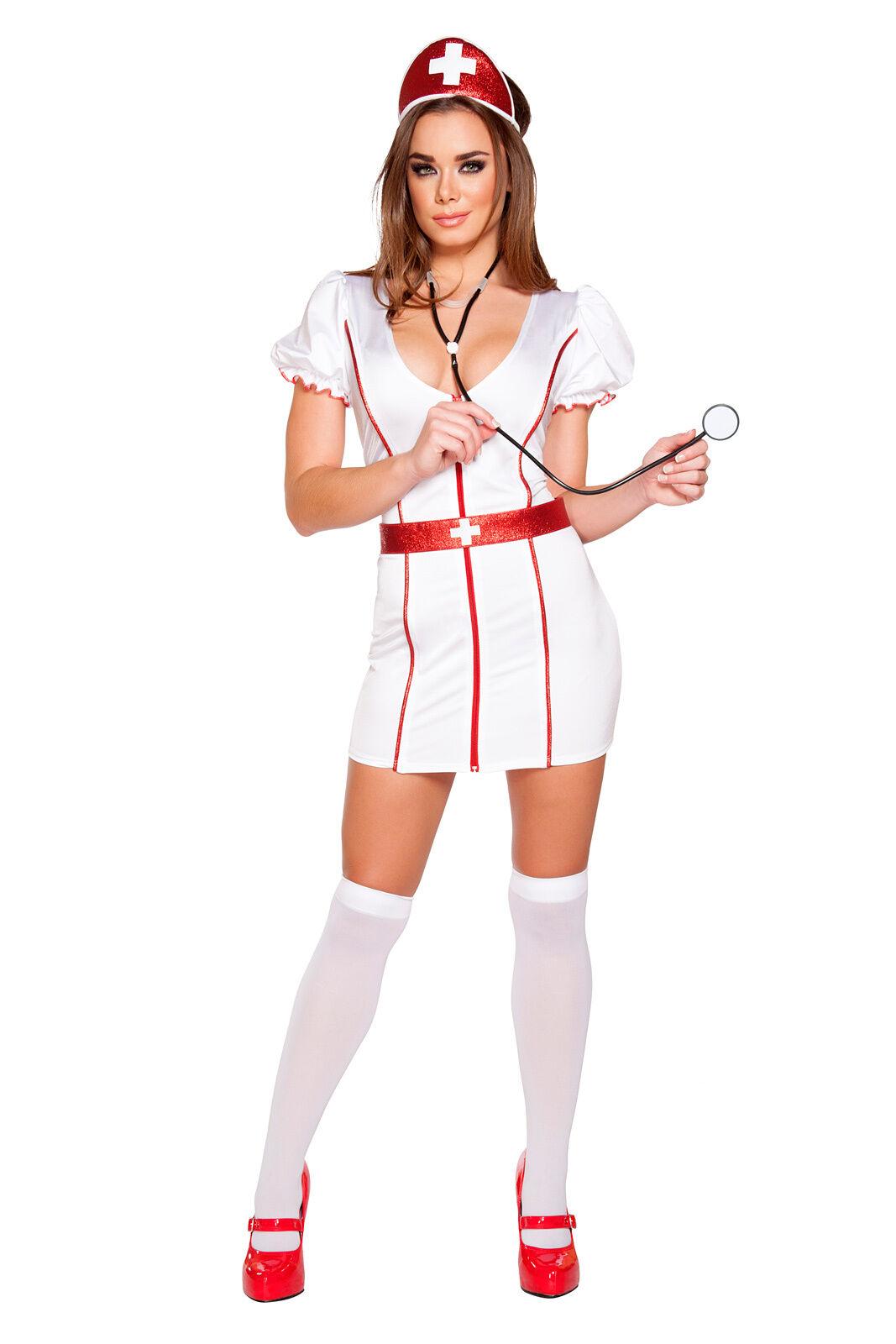 Infirmière Costume robe s/m M/L capot stéthoscope ceinture made in in in usa 100655