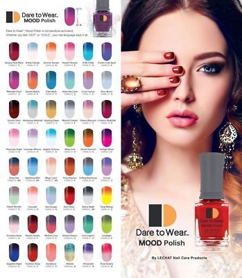 Lechat mood dare to wear nail polish color changing - Colors effect on mood ...