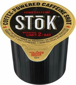 SToK Caffeinated Black Coffee Shots, 264 Single-Serving Shots, Single-Serve Shot 41271024159 | eBay