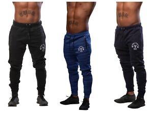Gym-Mens-Fleece-Slim-Joggers-Designer-Tracksuit-Jogging-Bottoms-Sweat-Pants-UK