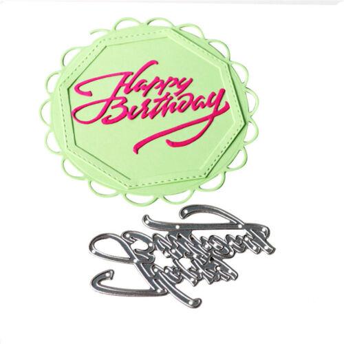 Happy birthday Metal Cutting Dies Stencils Scrapbooks Paper Cards SP