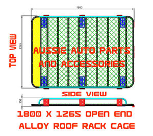 Alloy Open End Roof Rack 1800mm for TOYOTA Land Cruiser ...