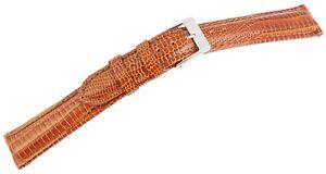 Echt-Leder-Uhren-Armband-Braun-16-mm-Dornschliesse-Ersatzband-X8000117160