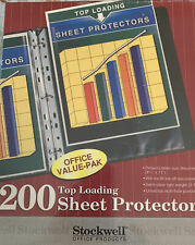 Stockwell Top Loading Sheet Protectors 200