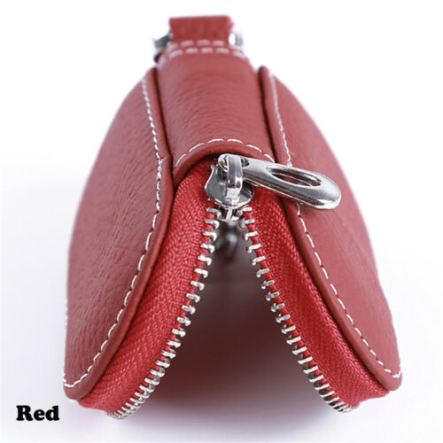 Portable Solid Protective Coin Purse Zipper Leather Case Key Cover Car Key Bag
