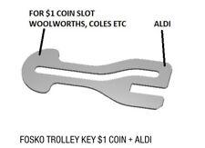 The Original FOSKO Shopping Trolley Master Key (F29)
