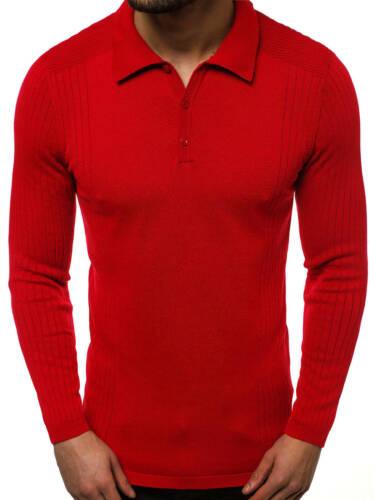 Pullover Sweater Strickjacke Strickpullover Feinstrick Pulli Herren OZONEE 95005
