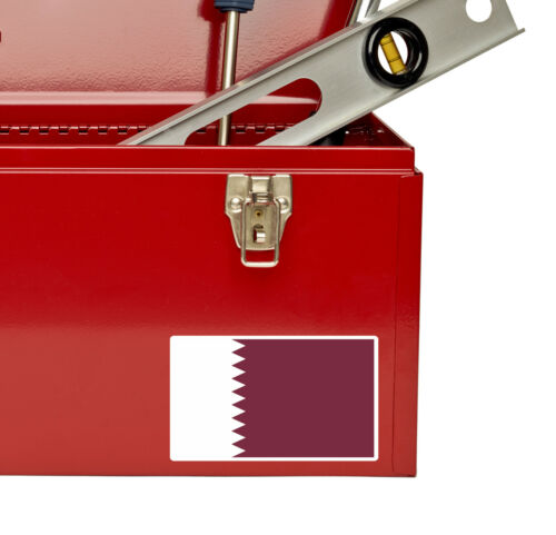 2 x Qatar Doha Vinyl Sticker Luggage Travel iPad Laptop Map Flag Car Decal #5403