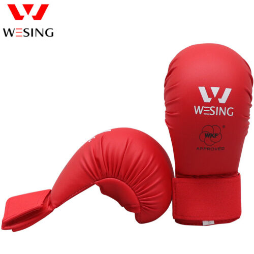 Wesing Karate Gloves without thumb karate competition mitts WKF approved