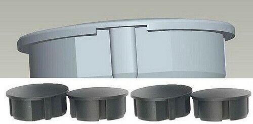 4 schwarze STECKEL Staubschutz-Deckel für Steckdosen Steckdosenleisten Abdeckung