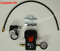 Pressure Switch Kit Industrial Air 100 Psi On & 125 Psi Off 4 Port W/on/off