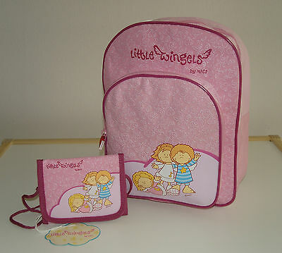 Nici Little Wingels Set Kindergarten Backpack and Neck wallet Backpack Purse