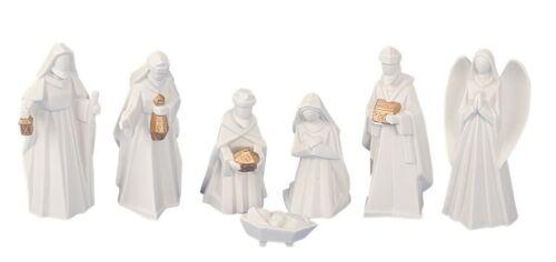 Krippenfiguren 7 teiliges Set Krippe Weihnachten Grösse Figuren bis 13 cm