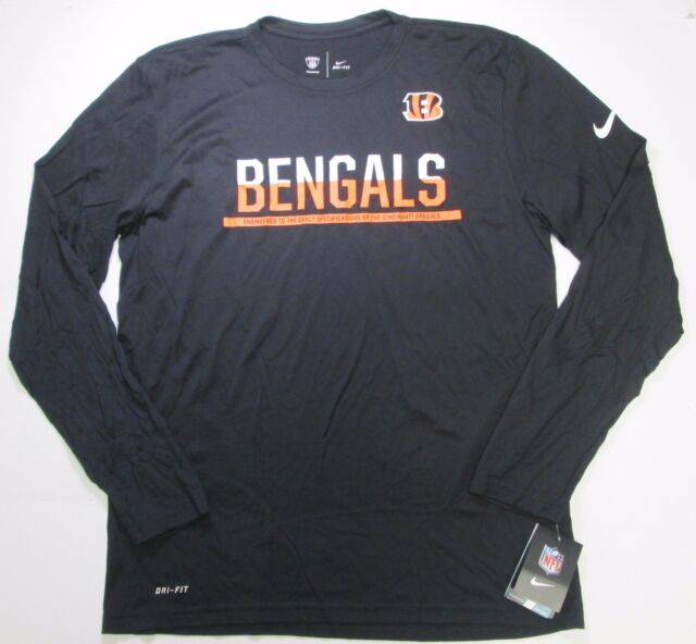 Nike NFL Cincinnati Bengals Dri-fit Men s Long Sleeve T-shirt L Black  779751 010 for sale online  7e3079507