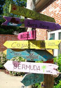 CUSTOM Travel Pool Decor Signs - backyard oasis - tiki bar ...