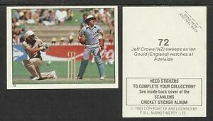 AUSTRALIA-1983-SCANLENS-CRICKET-STICKERS-SERIES-2-JEFF-CROWE-NZ-72
