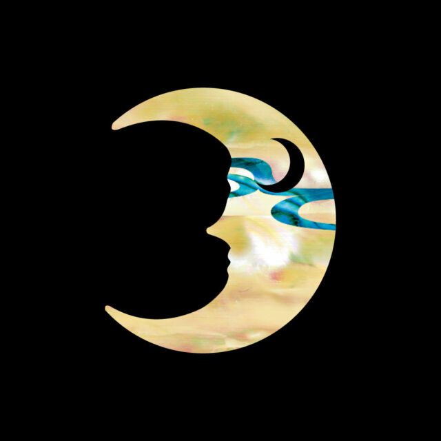 Crescent Moon Inlay Sticker Decal For Guitar & Bass, Ukulele Headstock