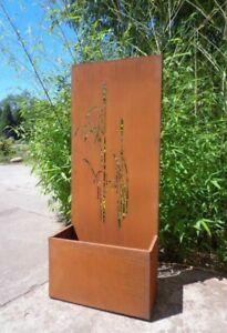 Details Zu Edelrost Garten Sichtschutz Rost Blumentopf Sichtschutzwand Rost Pflanzschale