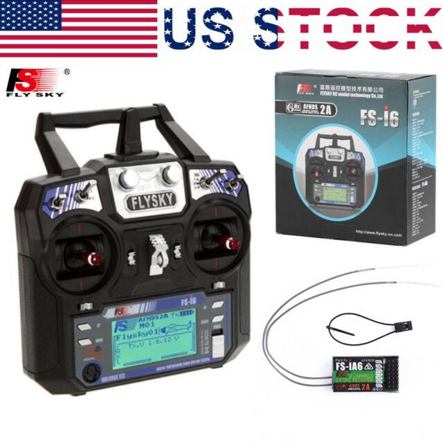 FS-I6 2 4G 6 Channel RC Remote Control Radio Transmitter &iA6 Receiver  FLYSKY