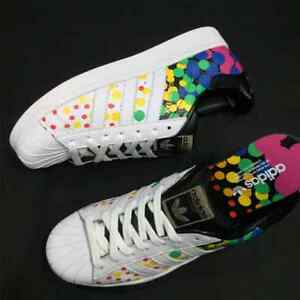 more photos bf030 10e2a Image is loading Adidas-Official-SUPERSTAR-Original -New-Arrival-Clover-Women-