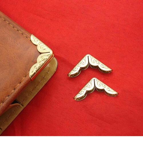 PF Tone Menu 50 X Gold Card File Scrapbook Corner Album Protection Book Metal