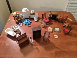 Lot Of Vintage Dollhouse Furniture And Accessories Wood Unbranded Ebay