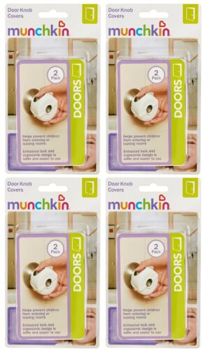 35024 White 2 Pcs Each 4 Pack Munchkin Door Knob Cover