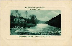 CPA-Trois-Monts-Calvados-Le-Deversoir-de-Moulin-du-Pray-516058