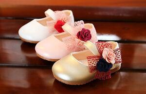 c6e2ce8ca La imagen se está cargando Bebe-Nina-Flor-Mono-Fiesta-De-Bautizo-Zapatos-