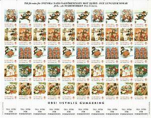 s26898) SWEDEN 1985/86 MNH** Tubercolosis Christmas Sheet God Helg cinderella