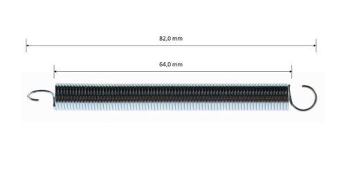Rückholfeder für Gaspedal Bremspedal Ø10mm z.B. CRG KART Bremse L=82mm