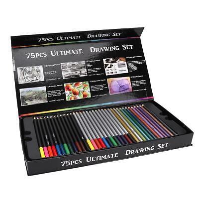 75pcs Professional Sketching Drawing kit Colored Pencil ...