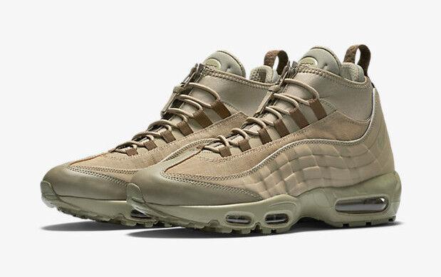 Mens Nike Air Max 95 Sneakerboots Sneaker Boots New, 806809-200 Khaki sku AA