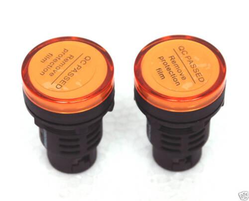 10x Pilot light Orange Led Lamp φ30mm Screw Terminal AC110V Shinohawa AD16-30D//S